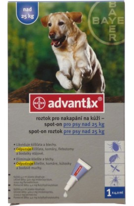 BAYER Advantix Spot on pro psy nad 25kg 4x4ml