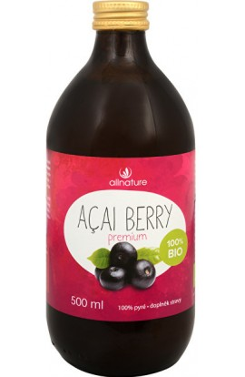 Allnature,  Allnature Acai Berry Juice 100% Bio 500 ml