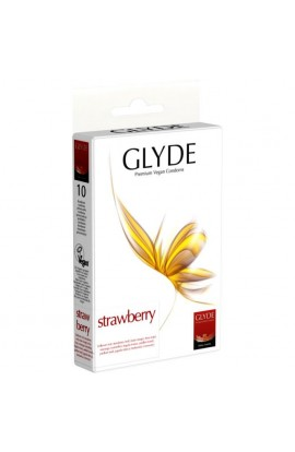 GLYDE, CONDOMS STRAWBERRY, 10 pcs