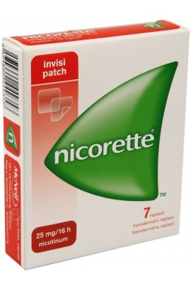 Johnson & Johnson, NICORETTE 25 mg/16 h Invisipatch Никоретте пластыри 7 шт. 7 náplastí,