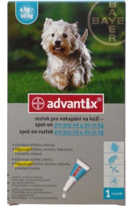BAYER Advantix Spot on pro psy 4-10kg 1x1ml