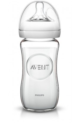 Philips Avent natural glass bottle without BPA SCF673 / 17 Transparent 240ml