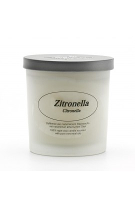 KERZENFARM, NATURAL CANDLE CITRONELLA, 8 CM