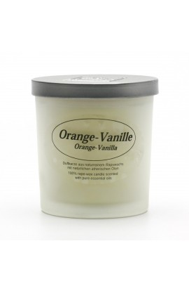 KERZENFARM, NATURAL CANDLE ORANGE VANILLA, 8 CM
