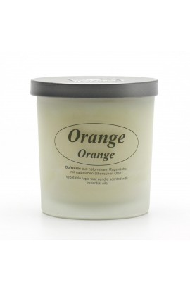 KERZENFARM, NATURAL CANDLE ORANGE, 8 CM