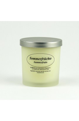 KERZENFARM, NATURAL CANDLE SUMMER FRUITS, 8 CM