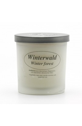 KERZENFARM, NATURAL CANDLE WINTER FOREST, 8 CM