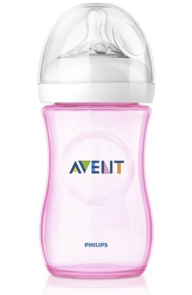 Philips Avent natural PP bottle pink 260ml