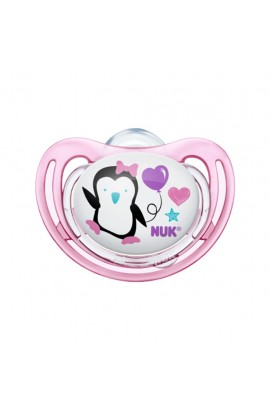Nuk silikon soother Freestyle penguin pink