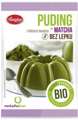 Amylon,  Amylon Matcha pudding pineapple Bio 40 g