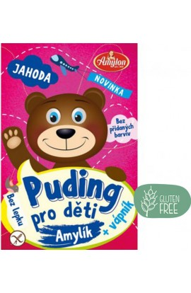 Amylon,  Amylon Puding strawberry for children without gluten 40 g