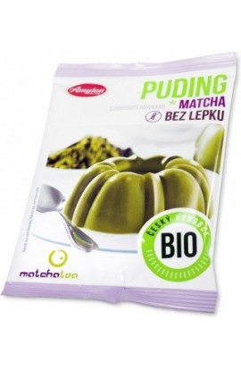 Amylon,  Amylon Puding matcha with flavor of pineapple without gluten Bio 40 g