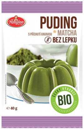 Amylon,  Amylon Bio Puding matcha and pineapple 40 g