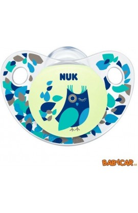 Nuk silicone pacifier Trendline day & night blue owl