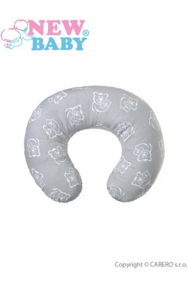 NEW BABY Universal nursing pillow gray two teddy bears