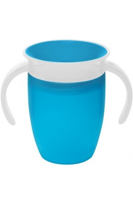 Munchkin Junior non-flowing 360 ° mug with 207 ml blue eyes