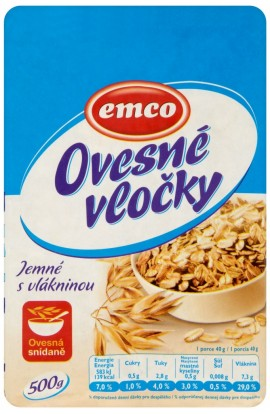 Emco, Emco oatmeal flakes with fiber 500g