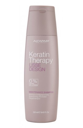 ALFAPARF MILANO, Lisse Design Keratin Therapy, gentle cleansing shampoo without sulphates and parabens
