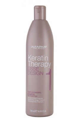 ALFAPARF MILANO, Lisse Design Keratin Therapy, deep cleansing shampoo for all hair types