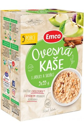 Emco,  Emco Porridge with apples and cinnamon 5x55 g