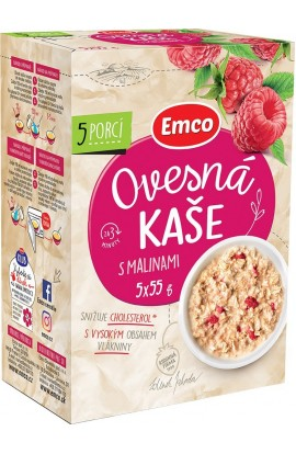 Emco,  Emco Porridge with raspberries 5x55 g