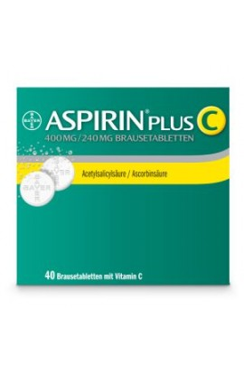 Bayer, ASPIRIN PLUS C, Аспирин плюс С 40шт.