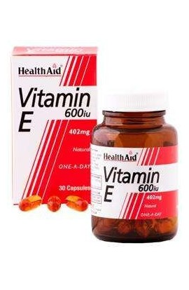 Health Aid Vitamin E 600iu Natural 60 Kapseln