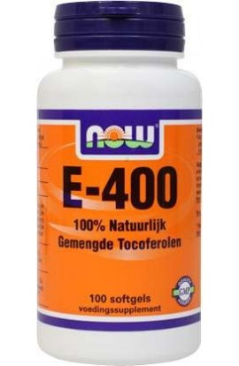 NOW Foods E-400 gemengte Tocoferolen 100 Softgels