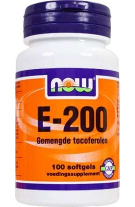 NOW Foods VITAMIN E 200 IU mixed Tocopherole 100 Softgels