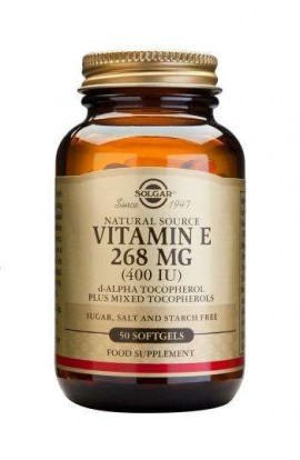 Solgar Natural Vitamin E 268mg (400 I.E.) 50 Softgels