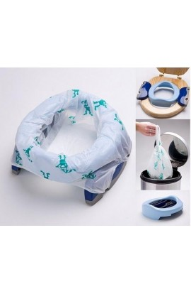 Potette, plus 2v1 travel potty white / light blue