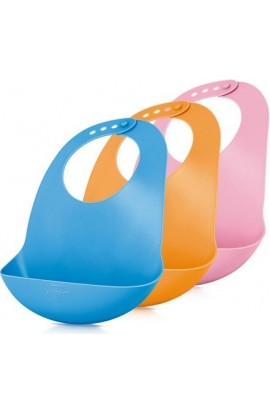 Sassy Avent children's plastic bib orange
