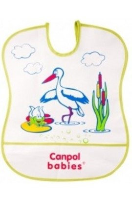 Canpol Soft Plastic Big Bib Green