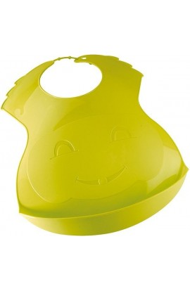 Thermobaby Plastic bib with face green
