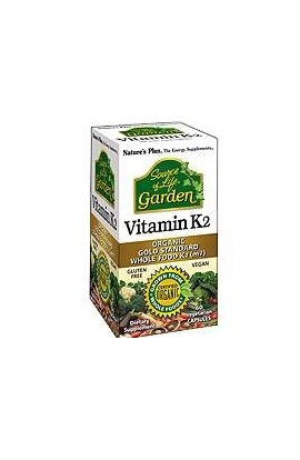 Nature's Plus Source of Life Garden[TM] Vitamin K2 120mcg 60 Vcaps® (vegan)