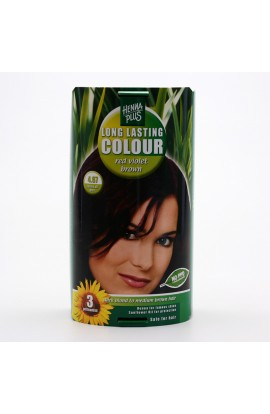 HENNA PLUS, LONG-LASTING COLOR RED VIOLET BROWN 4.67, 100 ML