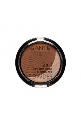 SANTE, KONTURUJÍCÍ AND BRONZUJÍCÍ POWDER 2IN1 02, MEDIUM-DARK, 9 G