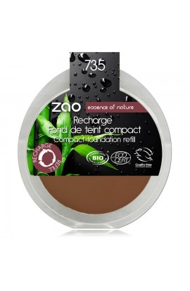 ZAO, COMPACT MAKE-UP 735 CHOCOLATE, 6 G