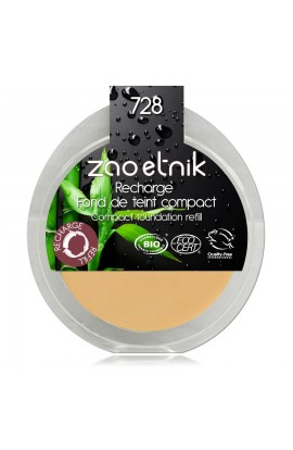 ZAO, COMPACT MAKE-UP 728 VERY LIGHT OCHRE, 6 G