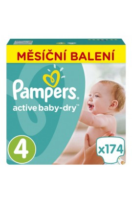 Pampers Active Baby-Dry 4 Maxi 8-14 kg 174 ks