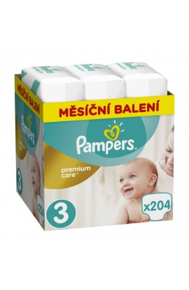 Pampers Premium Care Monthly 3 MIDI 4-9 kg 204 ks