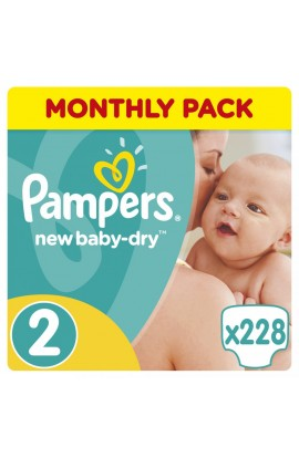Pampers New Baby-Dry Active 2 Mini 2 Mini 3-6 Kg 228 ks