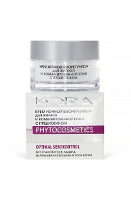 Kora Night cream bioregulator for oily and combination skin 50 ml