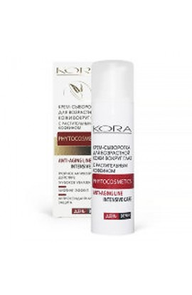 Kora Cream-serum for aging skin around the eyes with vegetable caffeine 30 ml