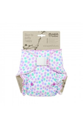 PETIT LULU, LADYPANTS DIAPER (purple balls), 1 PCS