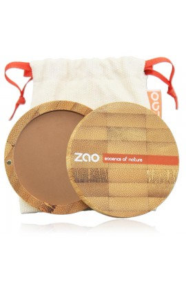 ZAO, COMPACT POWDER 305 MILK CHOCOLATE, 9 G