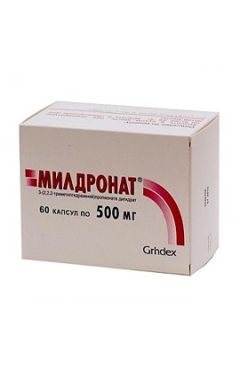 MILDRONATE Mildronate 500 mg 60 capsules