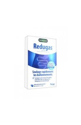 Benegast Redugas Bloating and Flatulence 20 Tablets to Crunch