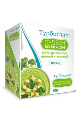 "Evalar Turboslim ""Lose weight with taste"". Cream soup with broccoli, nettle and parsley"