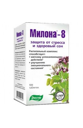 Evalar Milona-8 soothing 100 tablets